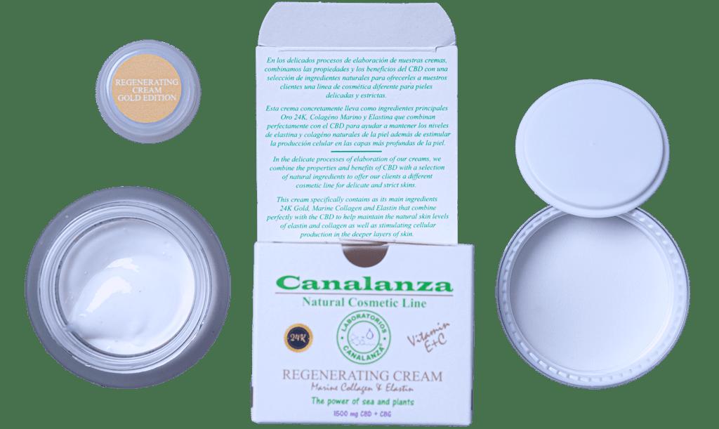 Crema oro 24k canalanza pack cosmética