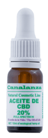 Aceite de cbd 20% thc 0.1,8% canalanza, elaborado en canarias.