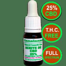 (10ml) Aceite de CBD 25% SIN THC Canalanza expo